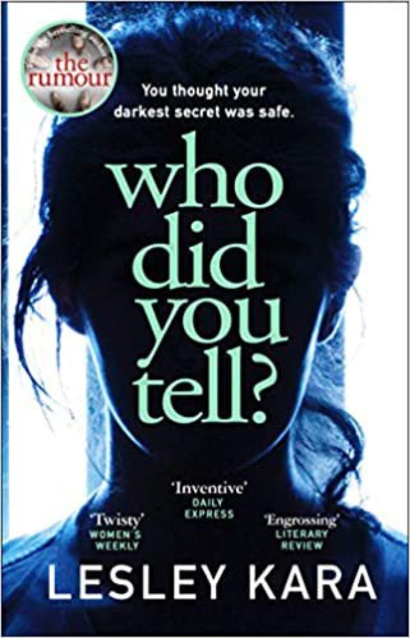 Book cover for 'Who Did You Tell?'