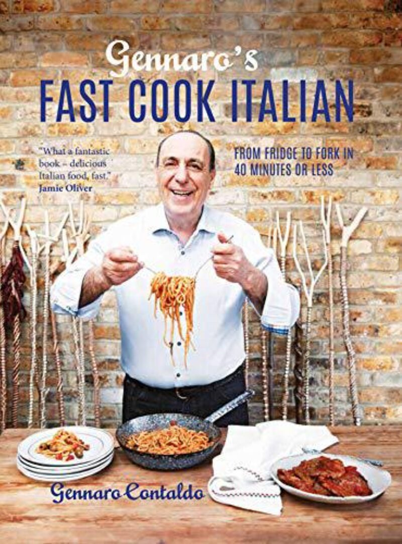 Book cover for 'Gennaro's Fast Cook Italian: From fridge to fork in 40 minutes or less'