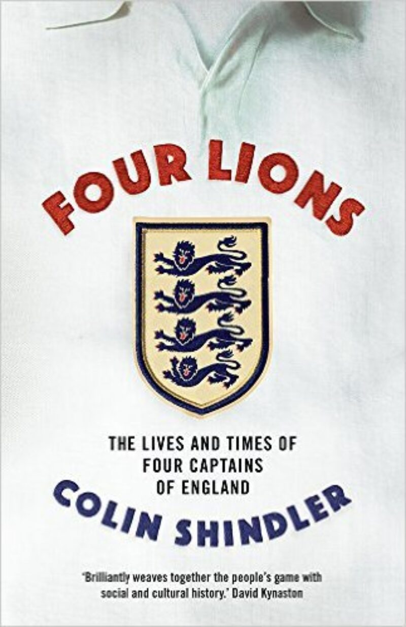 Book cover for 'Four Lions: The Lives and Times of Four Captains of England'