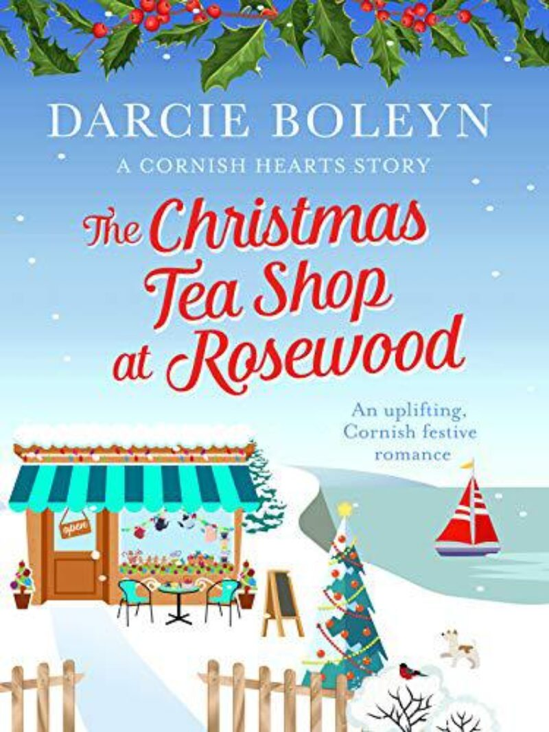 Book cover for 'The Christmas Teashop at Rosewood'