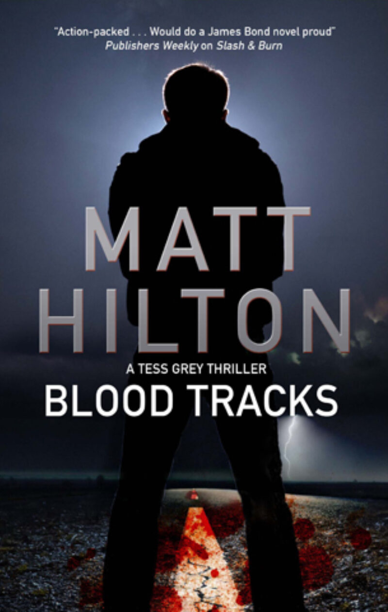 Book cover for 'Blood Tracks'
