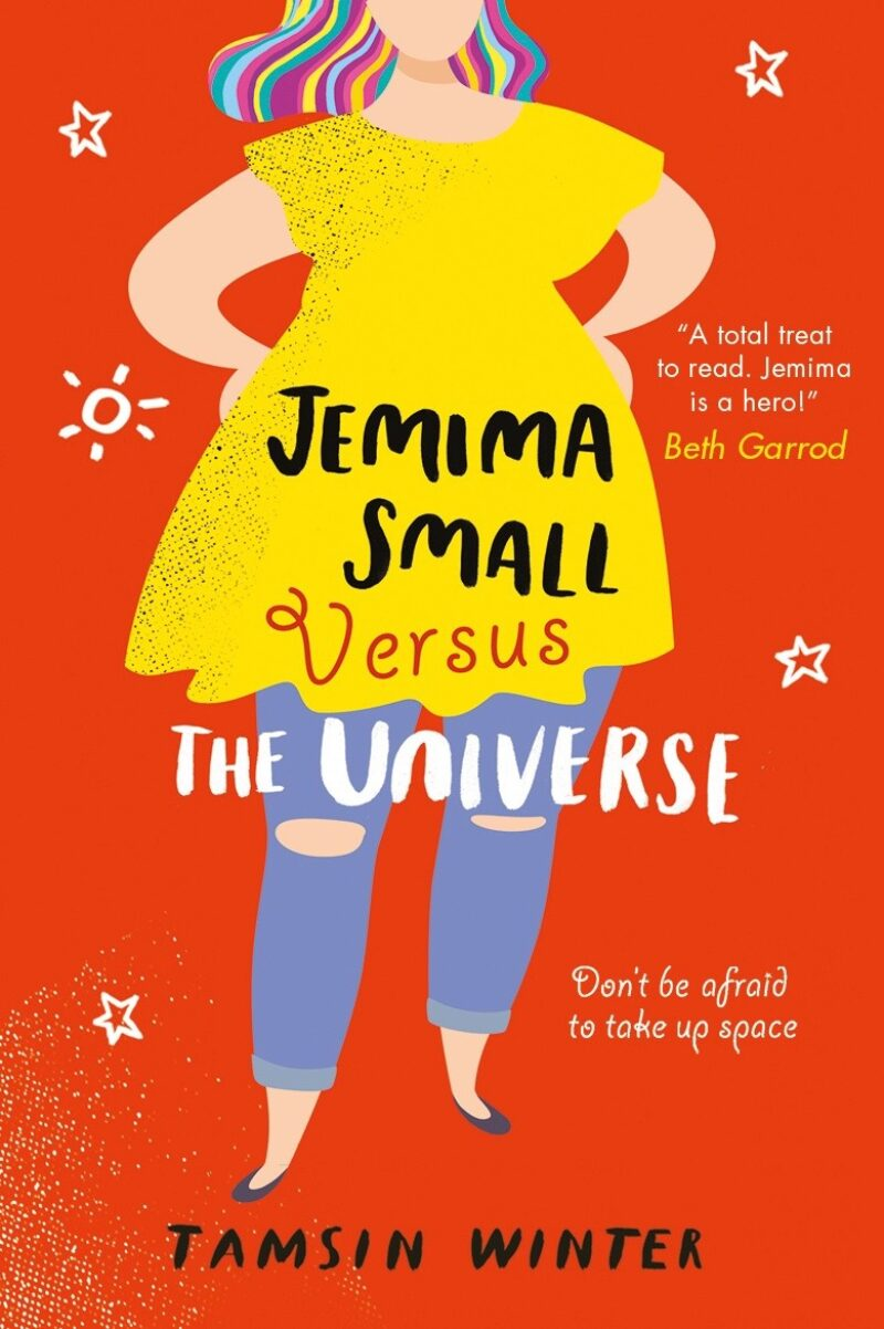 Book cover for 'Jemima Small Versus the Universe'