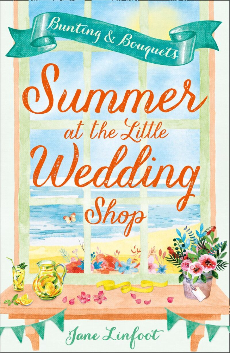 Book cover for 'Summer at the Little Wedding Shop: Bunting and Bouquets'