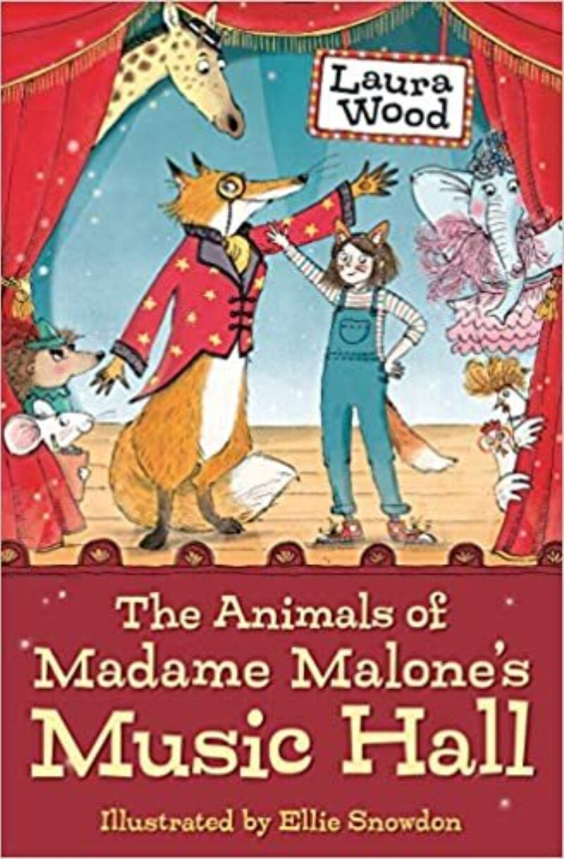 Book cover for 'The Animals of Madame Malone's Music Hall'